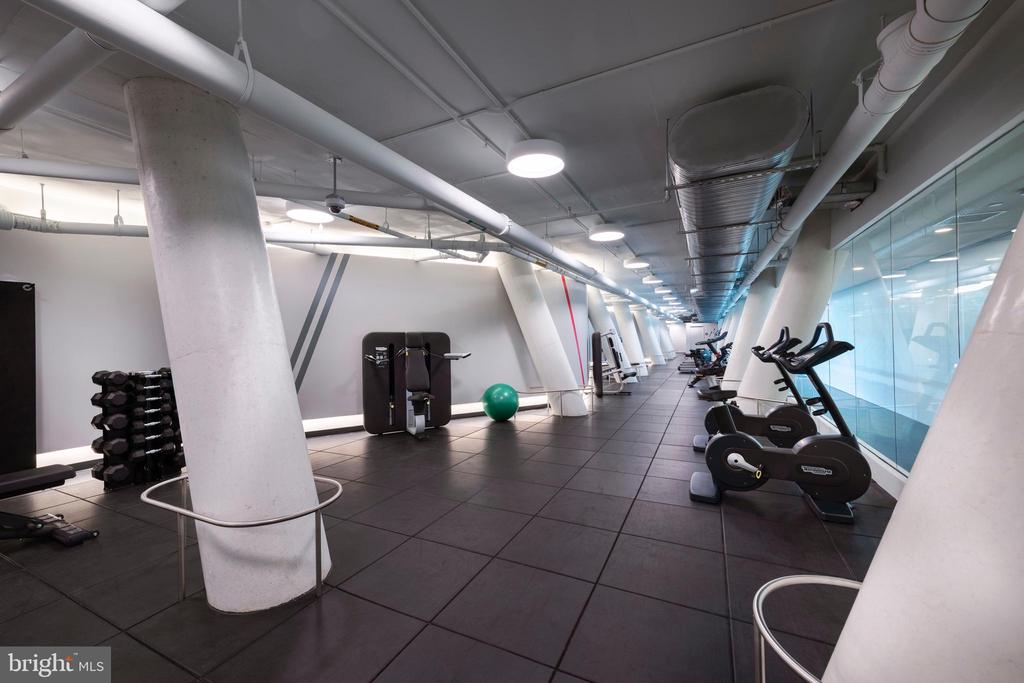 State-of-the-art fitness room with Peloton bikes - 1111 24TH ST NW #42, WASHINGTON