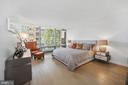 Master bedroom with floor-to-ceiling windows - 1111 24TH ST NW #42, WASHINGTON