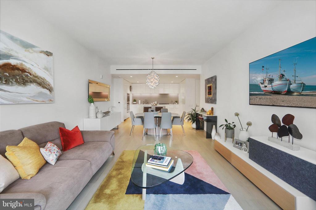 Main living area open to kitchen - 1111 24TH ST NW #42, WASHINGTON