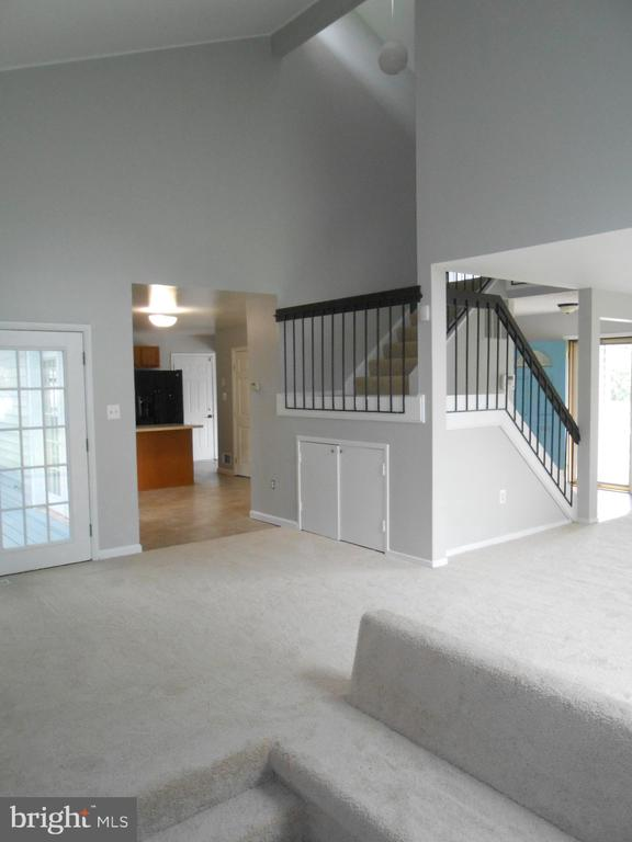 Storage Under Stairs - French Door to Rear Deck - 7702 BRANDON WAY, MANASSAS