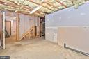 Unfinished Area Of The Basement Can Be Finished - 105 REDHAVEN CT, THURMONT