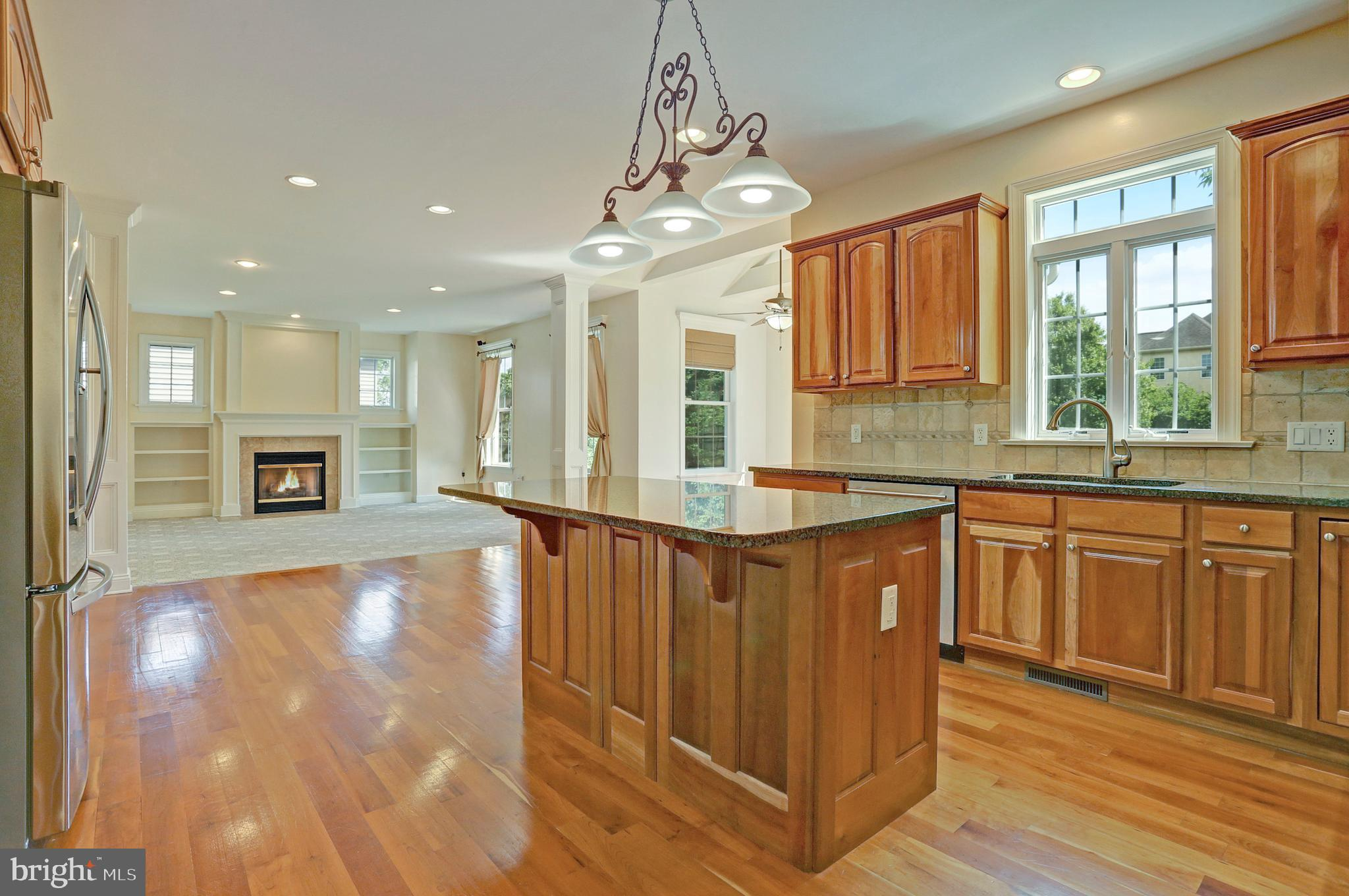 Cherry Wood Floors in the Kitchen