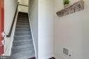 Entrance/Foyer with Hardwood Floors - 23297 SOUTHDOWN MANOR TER #116, ASHBURN