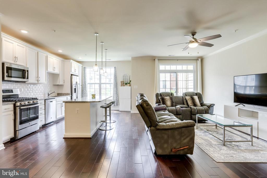 Great Room with Crown Molding - 23297 SOUTHDOWN MANOR TER #116, ASHBURN