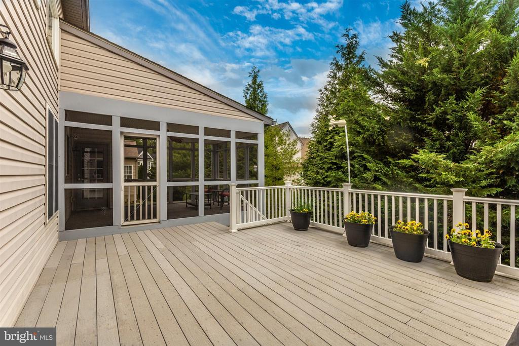 Spacious rear deck overlooking the trees. - 2689 MONOCACY FORD RD, FREDERICK