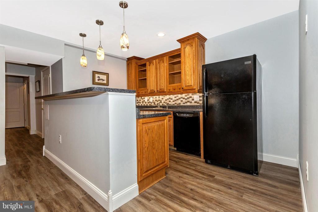 Wet bar offers fridge, dishwasher, wine fridge. - 2689 MONOCACY FORD RD, FREDERICK