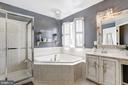 Glass Enclosed Shower | Soaking Tub - 11000 COUNTRY CLUB RD, NEW MARKET