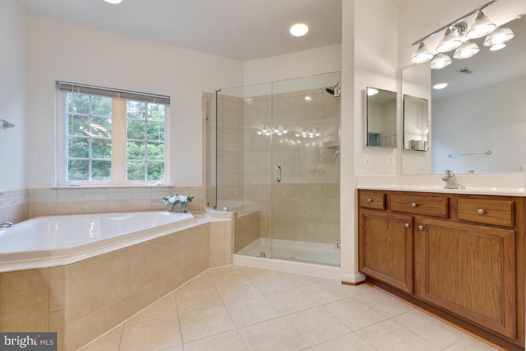 Separate vanities, soaking tub and shower - 43597 MERCHANT MILL TER, LEESBURG