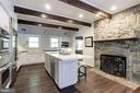Stone fire place in the kitchen - 16832 OLD WATERFORD RD, PAEONIAN SPRINGS
