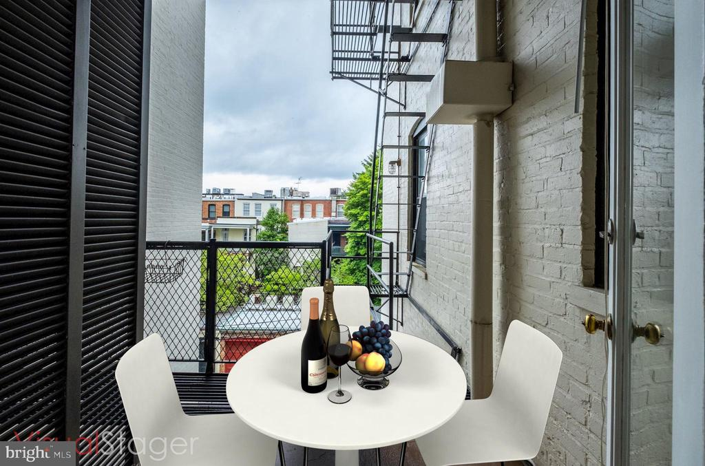 Balcony off kitchen - 2153 CALIFORNIA ST NW #306, WASHINGTON