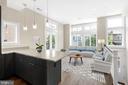 Living Room/Kitchen - 717 HOBART PL NW, WASHINGTON