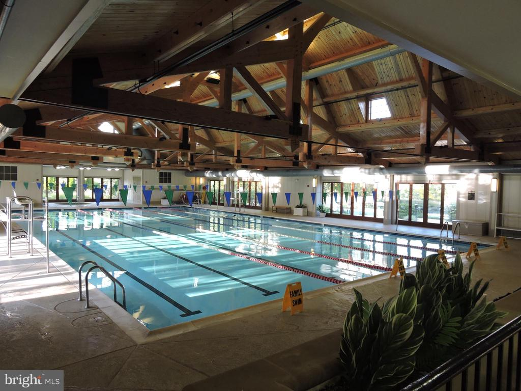 The indoor pool at the Potomac Club - outdoor too - 43597 MERCHANT MILL TER, LEESBURG