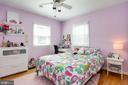 second bedroom with fan and cross ventilation - 3831 N ABINGDON ST, ARLINGTON