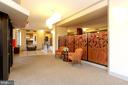 Building Lobby with Sitting and Meeting Areas! - 5902 MOUNT EAGLE DR #1406, ALEXANDRIA