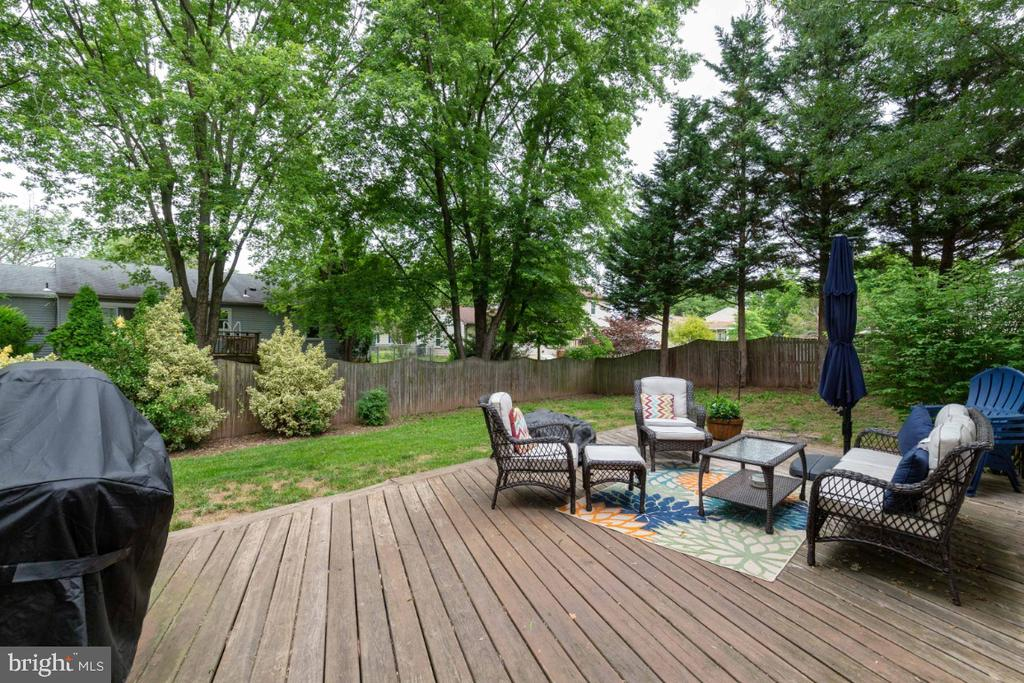 Large Deck off the Sun Room - 109 N LAURA ANNE DR, STERLING