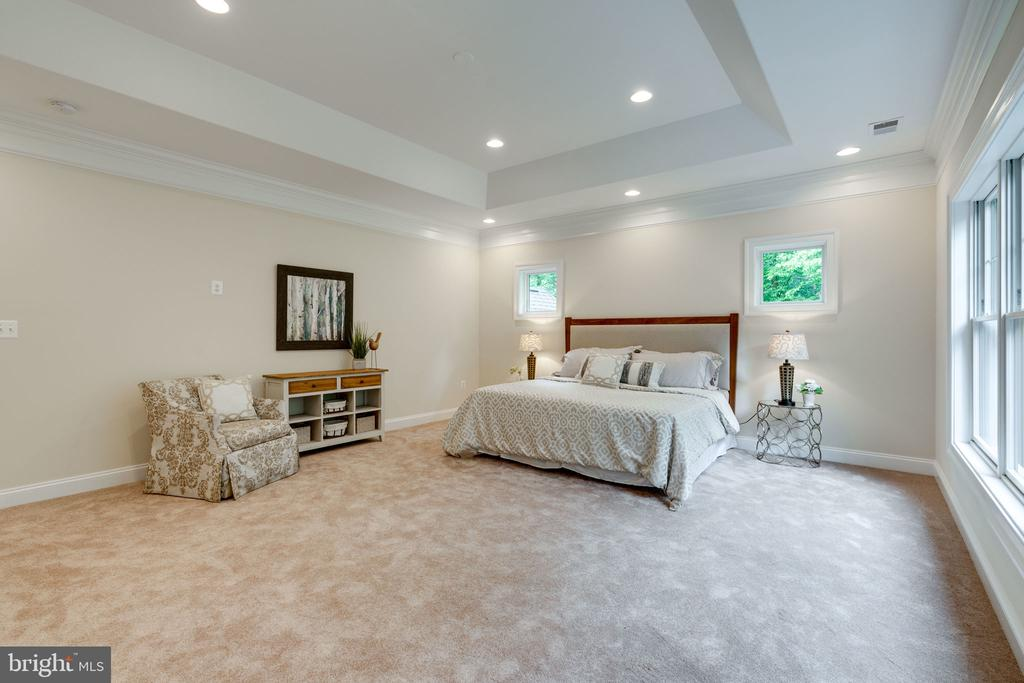 Tray Ceilings and Recess Lighting in Master - 8506 SHADEWAY PL, SPRINGFIELD
