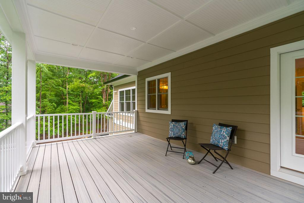 Private Covered Deck off of Master Bedroom - 8506 SHADEWAY PL, SPRINGFIELD