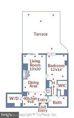 Floor Plan - 1021 N GARFIELD ST #1030, ARLINGTON