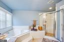 Master bath tub and shower - 12103 SAWHILL BLVD, SPOTSYLVANIA