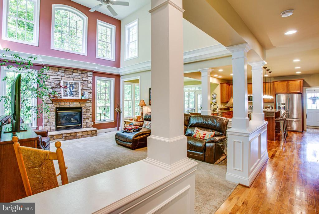 Family room opens to kitchen - 12103 SAWHILL BLVD, SPOTSYLVANIA