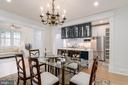 Dining Room Opens to Kitchen and Family Room - 2829 29TH ST NW, WASHINGTON