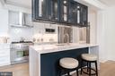 Modern Kitchen with Breakfast Bar - 2829 29TH ST NW, WASHINGTON