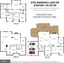 Floor plan. - 2796 MARSHALL LAKE DR, OAKTON