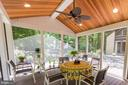 Screened-in Porch - New Addition - exits to Deck - 17007 BARN RIDGE DR, SILVER SPRING