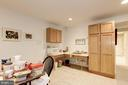 Lower Level Recreation room sink with cabinets - 17007 BARN RIDGE DR, SILVER SPRING