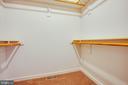 Master walk-in closet - 1015 MYRICK ST, FREDERICKSBURG