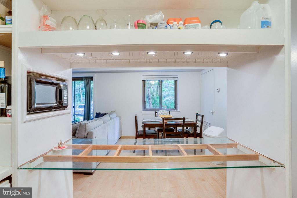 View from kitchen to the dining room - 6280 EDSALL RD #201, ALEXANDRIA