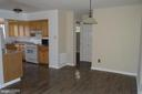 Dining room and kitchen - 3710 N ROSSER ST #T3, ALEXANDRIA