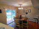 Breakfast or Dining area, nicely oriented. - 10118 S FULTON DR, FREDERICKSBURG