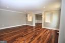 Living Room into Dining Room - 28500 RIDGE RD, MOUNT AIRY