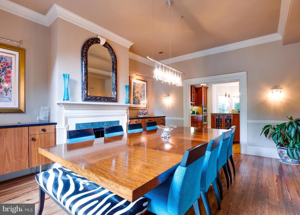 Embassy-sized dining room with fireplace - 112 5TH ST SE, WASHINGTON