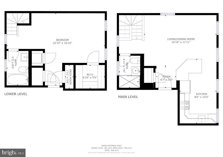 Unit Floor Plan - 3740 39TH ST NW #B152, WASHINGTON