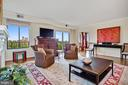 LIVING ROOM  WITH VIEW OF CATHEDRAL - 3101 NEW MEXICO AVE NW #1009, WASHINGTON