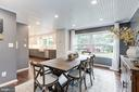 Large dining space in adjacent to the kitchen - 6244 COLUMBIA PIKE, FALLS CHURCH