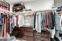 Large walk in master closet - 6244 COLUMBIA PIKE, FALLS CHURCH