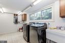 Large laundry room with second refrigerator - 6244 COLUMBIA PIKE, FALLS CHURCH