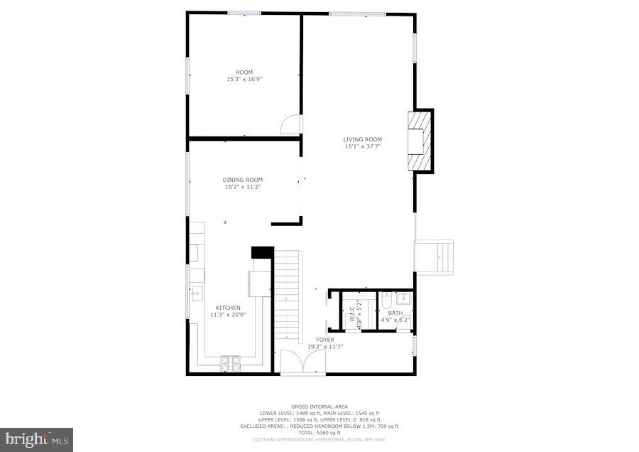 Floor Plan Main Level - 6244 COLUMBIA PIKE, FALLS CHURCH