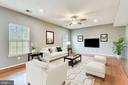 One of the largest  family rooms you will find - 25635 LAUGHTER DR, ALDIE