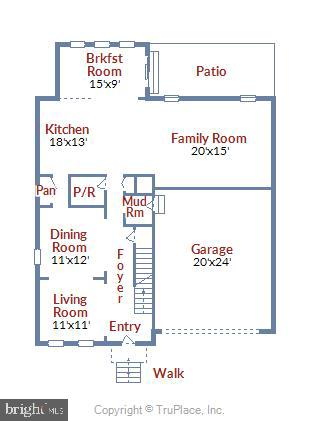 Floor plans with room sizes for reference - 25635 LAUGHTER DR, ALDIE