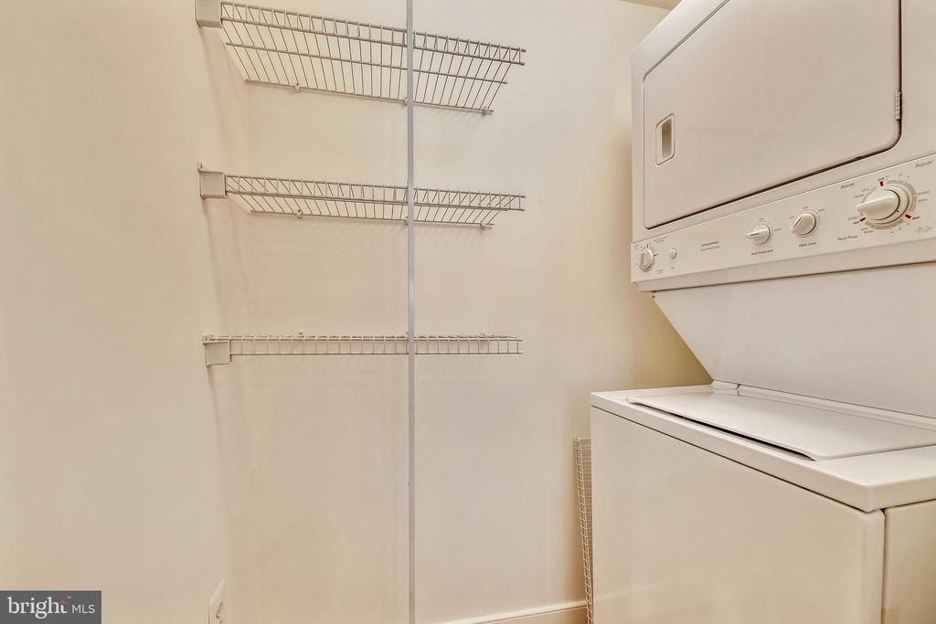 Laundry Room with Extra Storage - 616 E ST NW #302, WASHINGTON