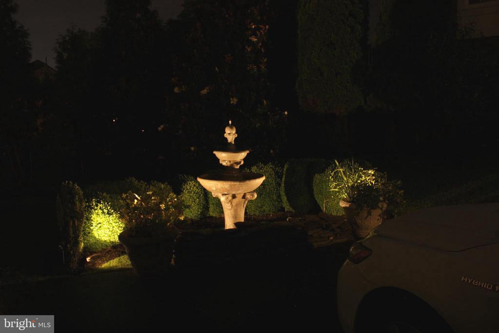 Fountain Lite at Night - 18503 PELICANS NEST WAY, LEESBURG