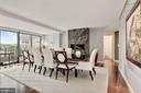 Dining Room with Potomac River Views - 2500 VIRGINIA AVE NW #502/503, WASHINGTON