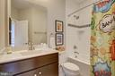 Full Bath for Bedrooms 2 and 3 has tub and tile - 22983 WORDEN TER, BRAMBLETON