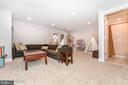 Example finished basement with full bath. - 9612 WOODLAND, NEW MARKET