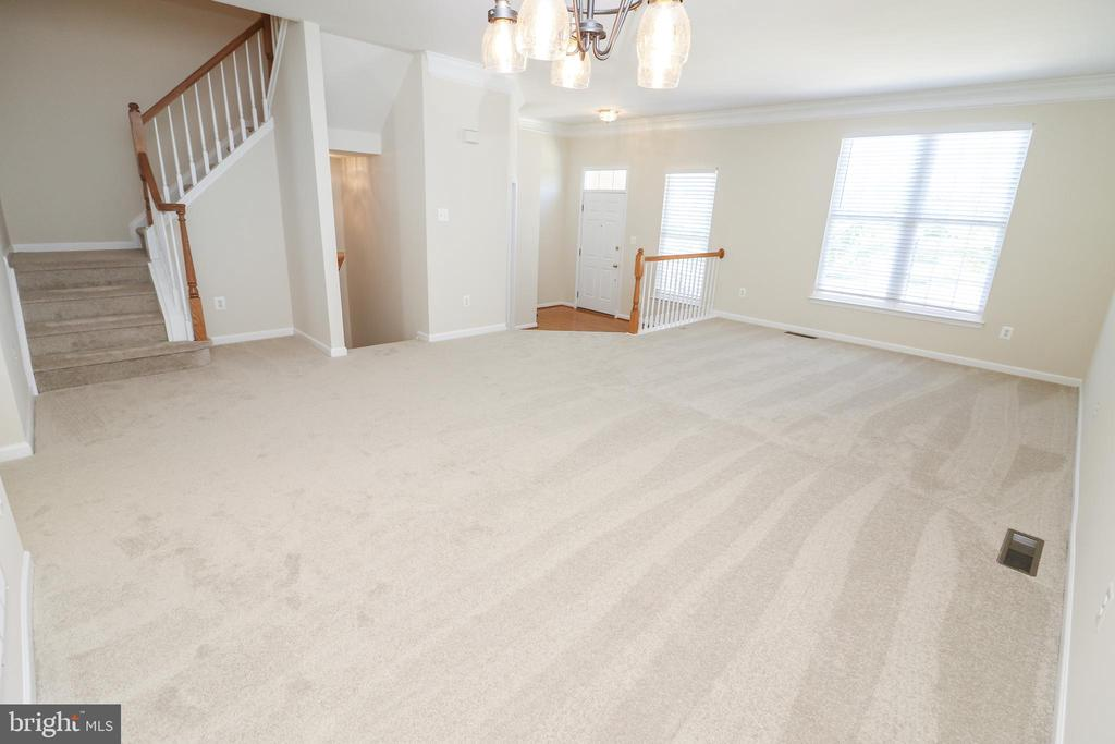 Living Room and Dining Room - 25236 WHIPPOORWILL TER, CHANTILLY