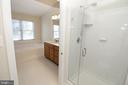 EnSuite Master Bathroom with seamless glass shower - 25236 WHIPPOORWILL TER, CHANTILLY
